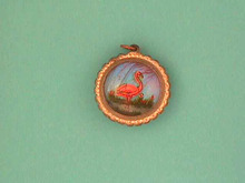 Double Butterfly Wing Pendant,Sided,Vintage,Nice!