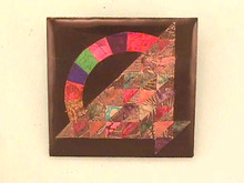Des Postages Quilt Pin,Handmade 1997