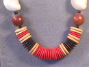 Wonderful BoHo Neck!,Dyed Wood Lentils,Vint