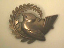GEORG JENSEN Sterling Peace Dove Pin - #309 - Book Piece!