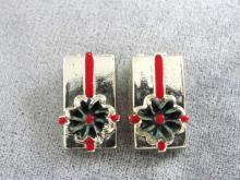 Present Gift Earrings Christmas Vintage