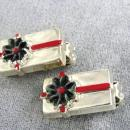 Present Gift Earrings Christmas Vintage