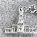 Tourist Pennsylvania Bracelet 3 Charms Signed Safety Chain