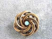 Victorian Opal Pin Swirl Beautiful! Pinwheel