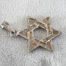 Judaica Star of David Pendant Sterling Silver Chunky Vintage