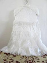 Carol Joy Christening Gown Matching Bonnet Vintage 1950s Child's