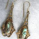 Best Abalone Earrings Open Work Beautiful Pierced Vintage