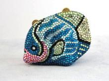 Kathrine Baumann Purse Coin Fish Beverly Hills Collectibles Minaudiere Swarovski