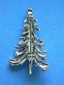 Christmas Tree Pin,Silver,Multi Color R/Ss,Vint