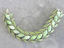 ART Varigated Bracelet,Enamel,Grn,Vintge