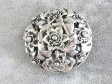 Old Hobe Brooch Pin Wiry Vintage Sterling Fabulous!