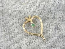Emerald Heart Pendant Genuine GF Neck