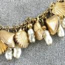 NAPIER Shell Necklace Vintage Loaded Charms