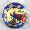 Ireland Enamel Pin Pendant Beautiful Colors Book of Kells