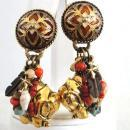 Fabulous Elephant Earrings Enamel Fetish Designer