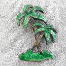 Old Palm Trees Pin Enamel 1940s Vintage