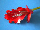 Original by Robert,Calla Lily Red Pin w/Baguette