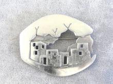 Vintage JJ 1988 Scenic Pin Brooch Jonette City Unusual
