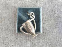 Sterling Trophy Charm Cup Vintage New On Card Signed