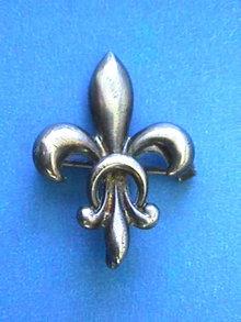 Fleur De Lis Watch Pin,Sterling,Signed,Exquisite