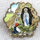 Czech Religious Medal OLD Enamel Scene Beautiful