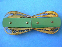 Czech Deco Buckle,Belt,Filigree,Plastic,Fab!