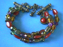 3 Strand Bracelet,Signed,Earthy,Gorgeous!