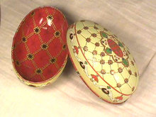 Decorated Tin Egg,1894,Easter,Tremendous Detail!