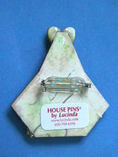 Lucinda House Pin,Christmas,Red,Green