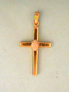 Opal Cross Pendant,Vintage,Prong Set,Firey!