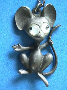 Googly Eye Mouse Neck,Vintage,Whimsical