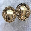 Western Germany Blue Filigree Earrings Vintage