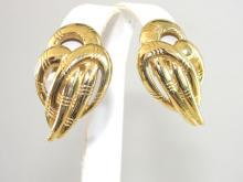 Givenchy Decadent Earrings Tear Drops Paris New York Vintage