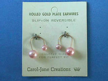 Slip-On Earrings,Reversible,Vintage,New On Card
