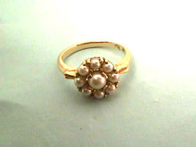 Pearls Gold Ring,Cultured,Prong Set,Gorgeous!