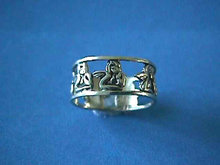 Silver Cherubs Ring,Wide Band,Vintage,Beauty!