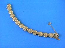 Chunky Monet Bracelet,G/T,Safety,Vintage,Nice!