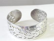 Rare SGP PANIS GLYDIS Bracelet Arts Crafts Sterling Silver Openwork Cuff