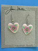 Signed Heart Earrings,Artisan,Fr Hooks,New on Card