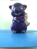 Old Piggy Bank,Blue+,Primitive,Art Pottery