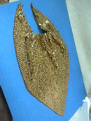 Whiting Gold Mesh Bib,Davis,Vintage,Necklace