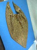 Whiting Gold Mesh Bib,Davis,Vintage,Necklace