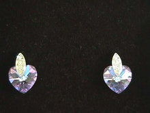 Signed Crystal Earrings,A/B Hearts,Posts,New in Box Joan Rivers