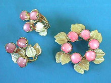 PINK Moonglow Set Settings Enamel VintUnqiue Gorgeous