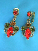 FALL Rhinestone Earrings Vintage Beautiful