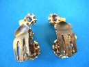 AUSTRIA Rhinestone Earrings Vintage Prong Set