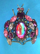 VENDOME Bug Pin PINKs Silver Fly Spider Vint