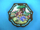 RARE GILT SILVER ENAMEL COMPACT PAINTING LG