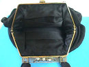 ENAMELED Bag Black STEFEN Nice Size Vintage