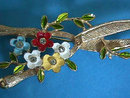 Enamel Garden Shears Pin Flowers R/Ss Pruning